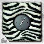 "Wall clock ""Crazy Clock-Zebra"""