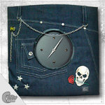 "Wanduhr ""Crazy Clock-Jeans Pants"""