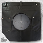 "Wanduhr ""Crazy Clock-Leather Pants"""