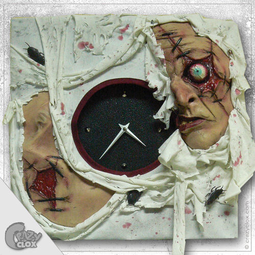 "Wall clock ""Crazy Clock-Starring Zombie"""