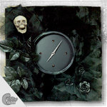 "Wanduhr ""Crazy Clock-Skulls and Roses"""