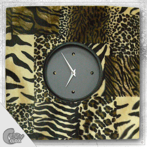 "Wanduhr ""Crazy Clock-Wild Mix"""