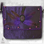 "Handtasche  ""Purple Rose"""